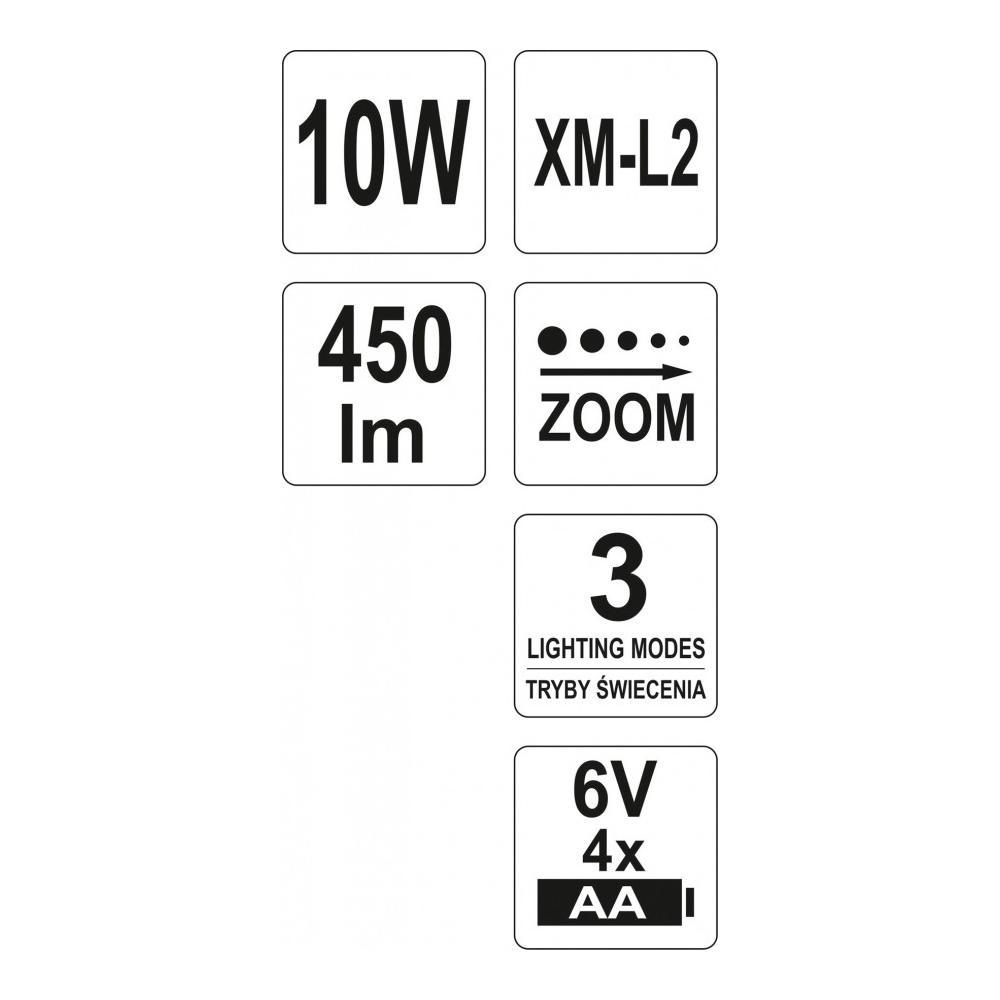 ad77ff84850 Pealamp 10W 450lm ZOOM YATO Yato YT-08591 | Ladu24.ee