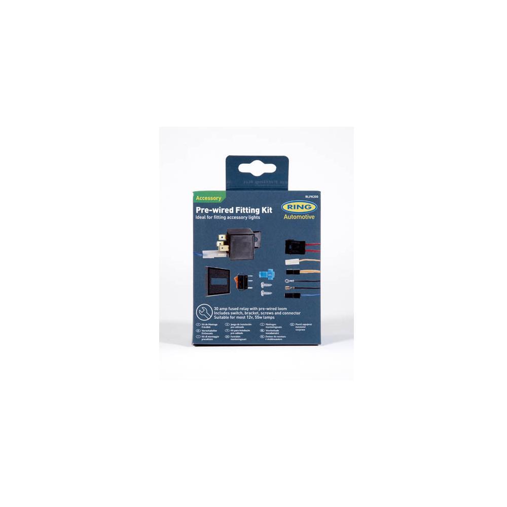 5dd4c106912 ... Lisatulede paigalduskomplekt (relee30A, valgustusega lüliti, lüliti  raam, 15A kaitse koos pesaga,