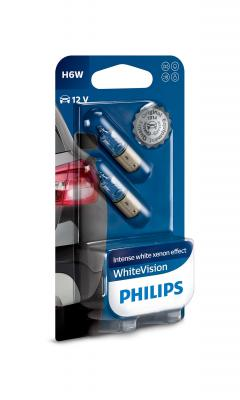PHILIPS WHITEVISION +60% H6W 12V 6W ,