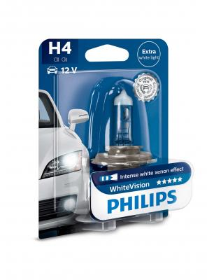 PHILIPS WHITEVISION +60% H4 12V 60/55W,