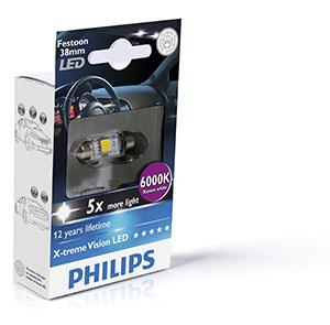 PHILIPS X-tremeVision LED SV8,5 10,5X38MM 12V 1W,
