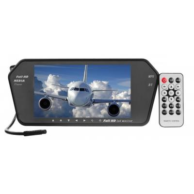 7'' Peeglile kinnitatav monitor, bluetooth, SD card, USB, MP5,