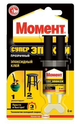MOMENT REPAIR EPOXY EPOKSIIDLIIM (LÄBIPAISTEV) 6ML, Moment