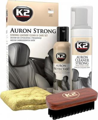 K2 AURON STRONG LEATHER CLEAN & CARE KIT NAHA PUHASTUS- JA HOOLDUSKOMPLEKT, K2