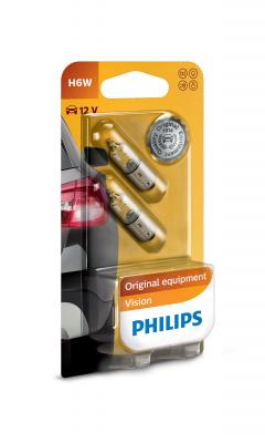 PHILIPS VISION H6W 12V 6W,