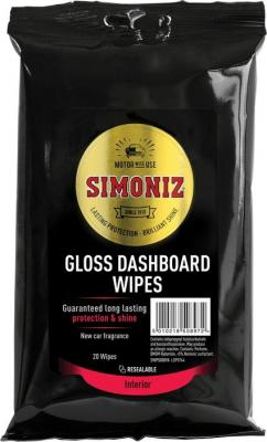 SIMONIZ GLOSS DASHBOARD WIPES SALONGI PUH.LAPID, LÄIKIVAD 20TK, Simoniz