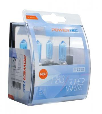 POWERTEC SUPER WHITE +100% H4 12V 60/55W,