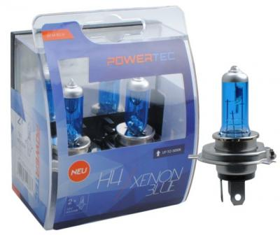 POWERTEC XENON BLUE H4 12V 60/55W,